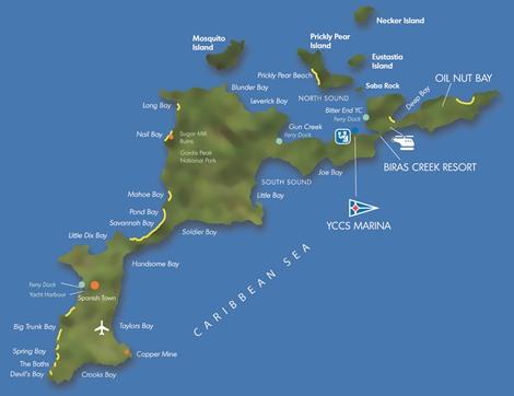 Gorda tortola map virgin
