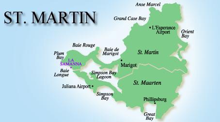 La Samanna Map